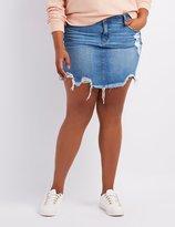 Charlotte Russe Plus Size Refuge Destroyed Denim Skirt