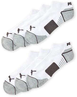Puma 6-Pack Low Cut Logo Socks