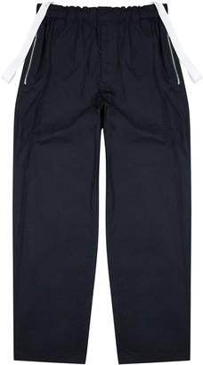 Helmut Lang Navy straight-leg cotton trousers