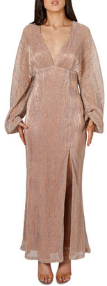 B by Bariano Francesca Batwing Sleeve Maxi Dress