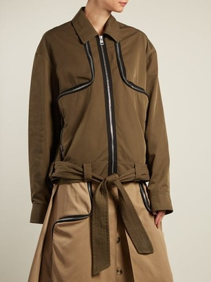 J.W.Anderson Zipped Twill Jacket - Womens - Khaki