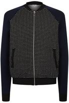 Kenzo Contrast Panelled Knitted Bomber Jacket