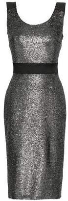 Moschino Metallic Coated Boucle Dress