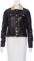 Band Of Outsiders Leathered Cropped Jacket