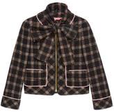 Gucci Lurex tweed jacket with detachable scarf