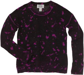 Autumn Cashmere Kids Inked Splatter Paint Wool & Cashmere-Blend Sweater