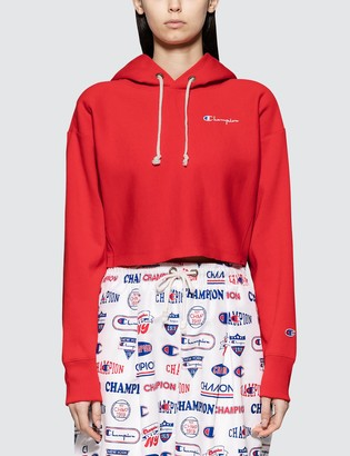 Champion Reverse Weave Cropped Hooded Sweatshirt