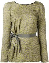 Etro printed belted blouse
