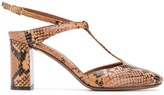 L'Autre Chose snakeskin effect 800mm heel pumps