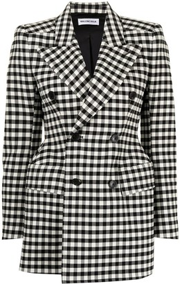 Balenciaga Pre-Owned Hourglass gingham check double-breasted blazer