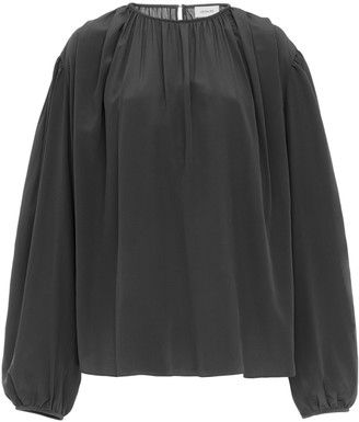 Lemaire Pleated Silk Crepe de Chine Top