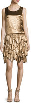 Ralph Lauren Dara Tiered Sleeveless Dress, Bronze
