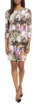 Karen Kane Petite Women's Painted Floral Sheath Dress