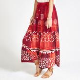 Apricot Multi-coloured Batik Maxi Skirt