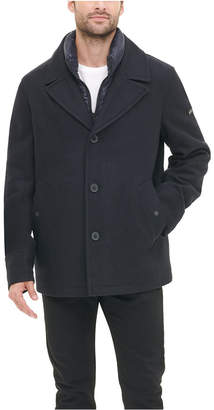DKNY Men Stadium Shorty Peacoat with Quilted Bib