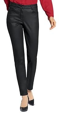 Basler Straight-Leg Coated Jeans in Black