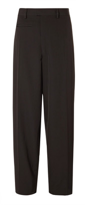 Bottega Veneta Wide-Leg Wool-Gabardine Trousers