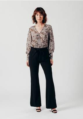 Oeuvre Black Cord Trousers With Fabric Belt