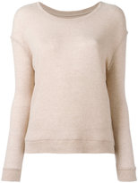Majestic Filatures ribbed trim jumper - women - Cashmere/Merino - 1