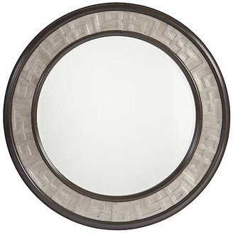 Barclay Butera Georgina Round Wall Mirror - Wilshire Brown