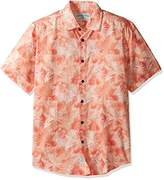 Margaritaville Men's Short Sleeve Floral Spray Print Shirt