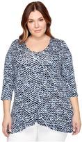 Karen Kane Plus Plus Size 3/4 Sleeve Swing Top