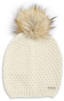 Lauren Ralph Lauren Faux Fur Pom Pom Hat