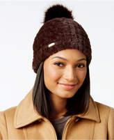 Calvin Klein Plush Faux Fur Pom Beanie
