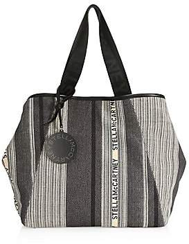 Stella McCartney Women's Small Logo Stripe Tote