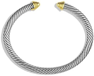 David Yurman Cable Classics Bracelet with 14K Yellow Gold