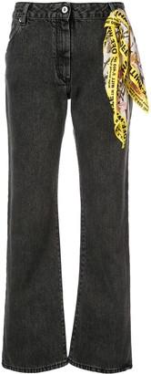 Off-White Foulard Belt Denim Jeans