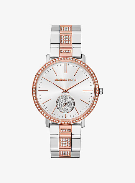 Michael Kors Jaryn Pave Two-Tone Watch