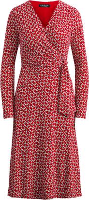 Ralph Lauren Print Jersey Surplice Dress