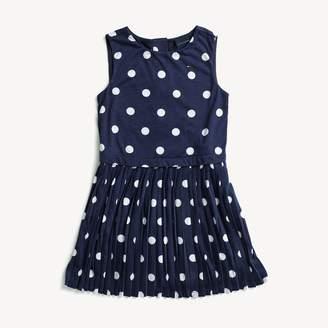 Tommy Hilfiger Pleated Polka Dot Dress