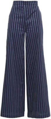 Osman Striped Cotton-poplin Wide-leg Pants