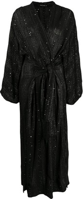 Mes Demoiselles Sequin-Embellished Wrap Dress