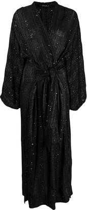 Mes Demoiselles Sequin-Embellished Wrap Dress