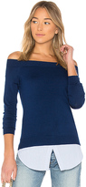 Central Park West Bleeker Off Shoulder Sweater