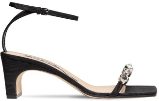 Sergio Rossi 60mm Sr1 Embellished Grosgrain Sandals
