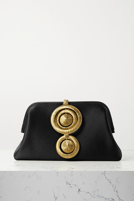 Serena Uziyel - Alessa Embellished Satin Clutch - Black