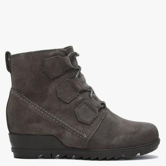 Sorel Evie Lace Major Suede Ankle Boots