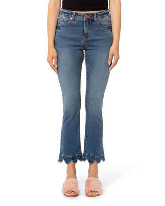 Lola Jeans Kate High-Rise Ankle Jeans with Scallop Hem