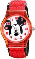 Disney Kids' W001692 Mickey Mouse Analog Watch With Nylon Band