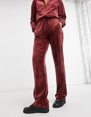 Juicy Couture co-ord velour tracksuit bottoms with diamante details