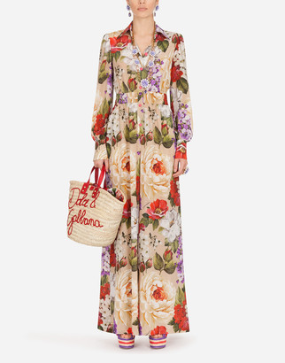 Dolce & Gabbana Floral-Print Crepe De Chine Jumpsuit