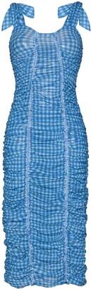 Molly Goddard Severine ruched gingham-print dress