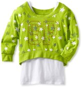 Southpole Kids Big Girls' Twofer Tank and Cropped Fashion Star Printed Sweater