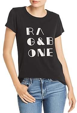 Rag & Bone Vintage Flocked Logo Tee