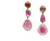Tresor Collection - Bio Color Tourmaline & Diamond Earring in 18K Yellow Gold