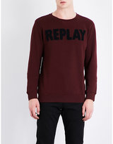 Replay Embroidered cotton-jersey sweatshirt